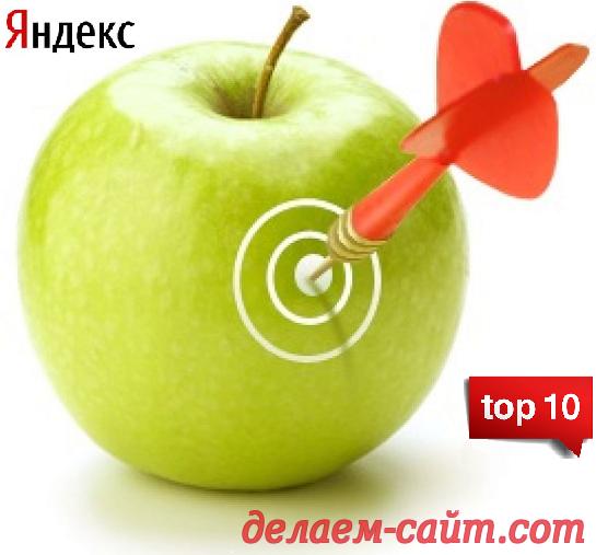 Как сайту попасть в топ 10 Яндекса