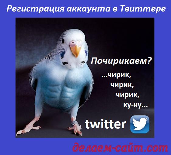 Твиттер регистрация аккаунта