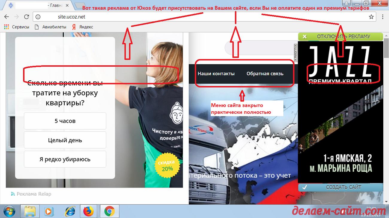 Реклама на сайтах Юкоз